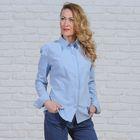 Рубашка женская классическая, размер 50, рост 164 см, цвет голубой