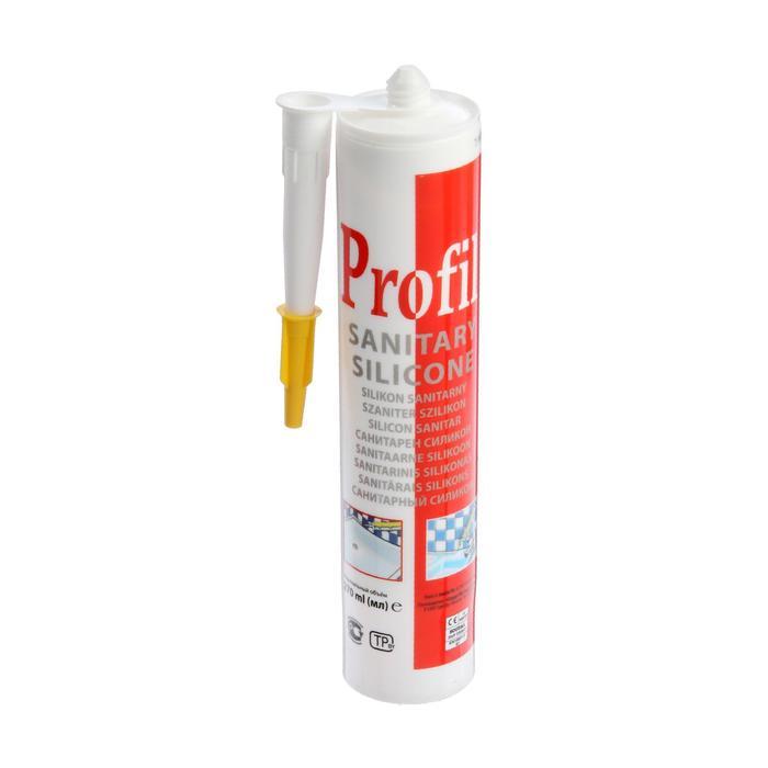 Герметик силиконовый Soudal Profil, санитарный, белый, 280 мл