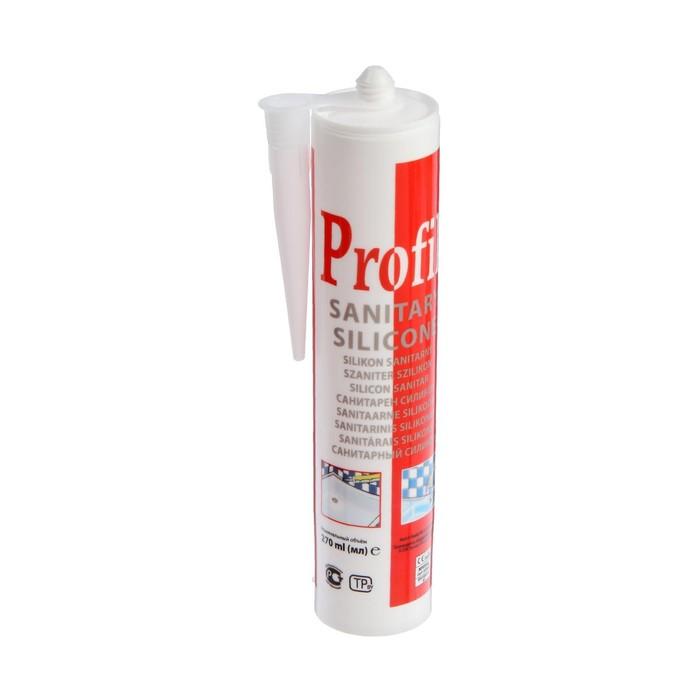 Герметик силиконовый Soudal Profil, санитарный, бесцветный, 280 мл