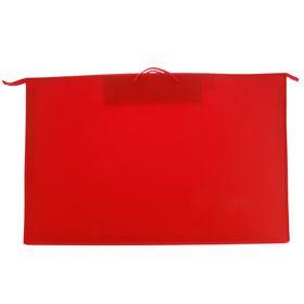 Папка А1, с ручками, пластиковая, молния сверху, 900 х 655 х 50 мм, «Оникс», ПР 4 -8, внутренний карман, цвет красный