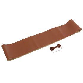 Сшивной чехол TORSO на руль 38 см, перфорированная искусственная кожа, коричневый Ош