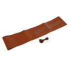 Сшивной чехол TORSO на руль 38 см, натуральная кожа, коричневый