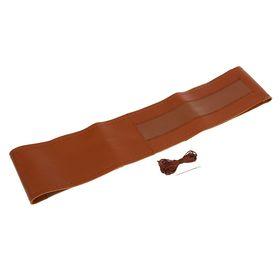 Сшивной чехол TORSO на руль 38 см, натуральная кожа, коричневый Ош