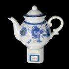 """Ночник керамика чайничек """"Синие цветы"""" Е12 220В 13х11х6 см"""