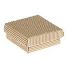 Коробка крафт из рифлёного картона, 9 х 9 х 3,5 см