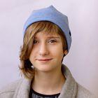 """Шапка для девушек """"М-50"""" демисезонная, размер 54-56, цвет голубой меланж (арт. 2806954)"""