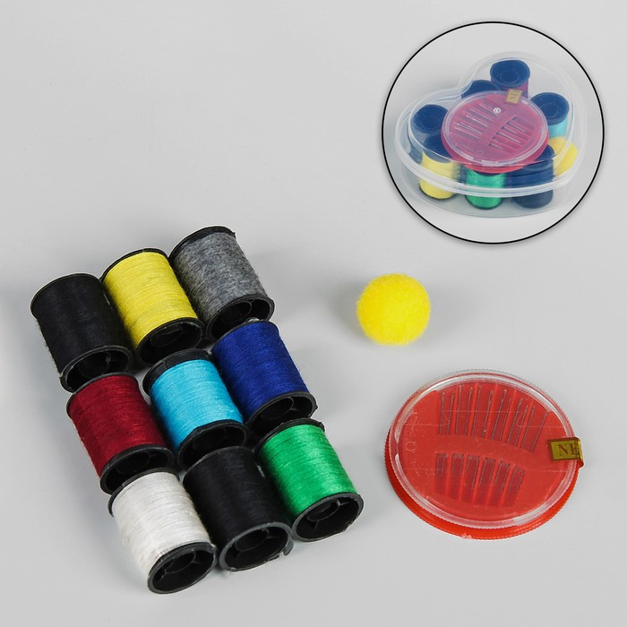 Набор для шитья, 11 предметов, 9*10,5см