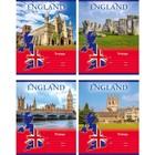 Тетрадь 12 листов клетка Meet Britain, картонная обложка, МИКС