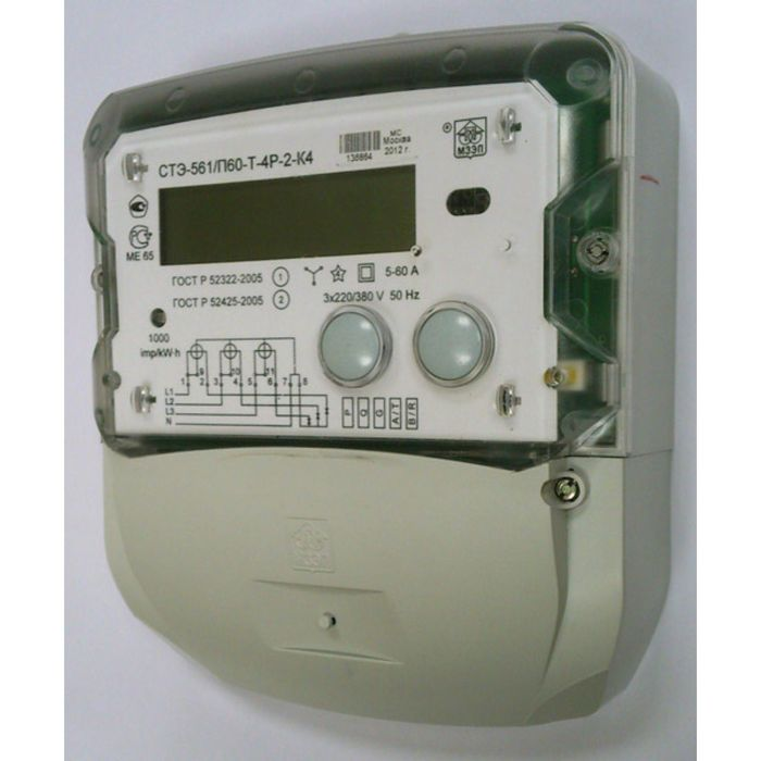 Счетчик АГАТ 3-4.100.2, 3ф, 100 А, 1 класс точности, двухтарифный, GMT +5, ЕКБ