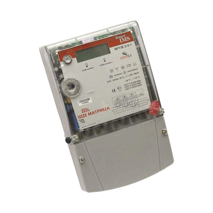 Счетчик NP73E.1-11-1, 3ф, 5-80 А, 0.5S/1.0 класс точности, многотарифный, PLC, оптопорт
