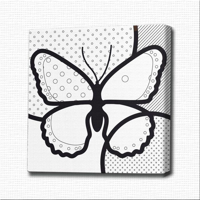 картина раскраска поп арт бабочка