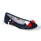 Туфли для девочек арт. 31-134B/12 (синий) (р. 34)