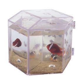 Аквариум BOYU 3,6 л., пластик, для петушка, без подсветки