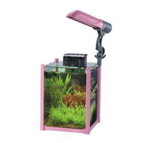 Аквариум BOYU 20 л., лампа 9 вт (Е27), помпа 300 л/ч., розовый