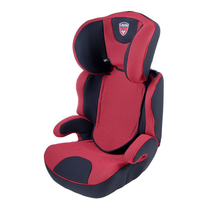Автокресло-бустер «М2», группа 2-3, цвет красный/чёрный