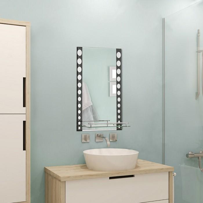 Зеркало в ванную комнату 70×50 см Ассоona A607, 1 полка