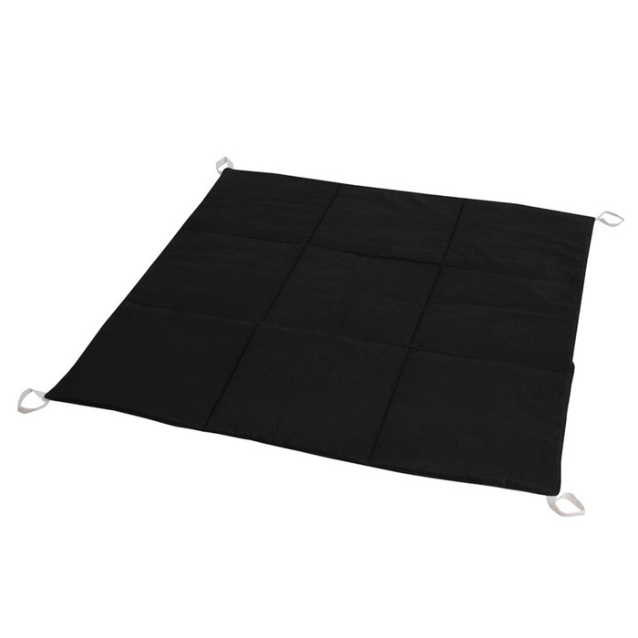 Игровой коврик  из экологичных натуральных материалов, хлопок, чёрно-белый