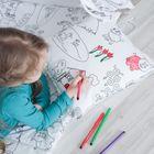 Подушка-раскраска декоративная, размер 40х40 см, коттон