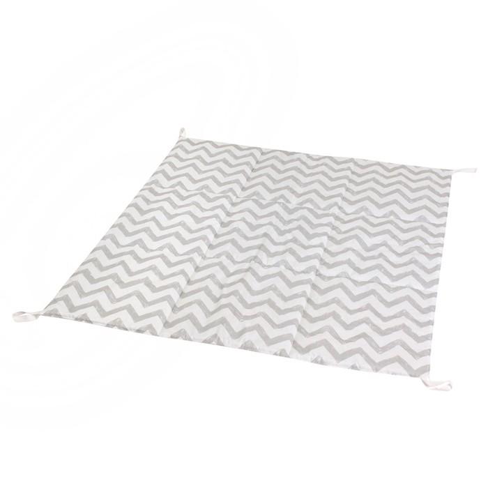 Игровой коврик для вигвама, хлопок, серый зигзаг