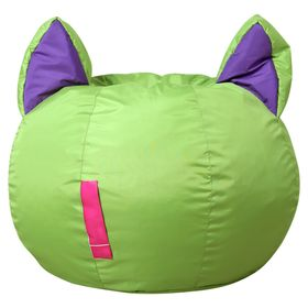 {{photo.Alt || photo.Description || 'Кресло-мешок Ушастик-Кот d50/h45 цв зеленый/фиолетовый нейлон 100% п/э'}}