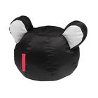 Кресло-мешок Ушастик-Мишка d50/h43 цв черный/белый нейлон 100% п/э