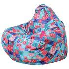 Кресло-мешок Малыш S d50/h80 цв ЛОСКУТКИ бирюзовый нейлон 100% п/э