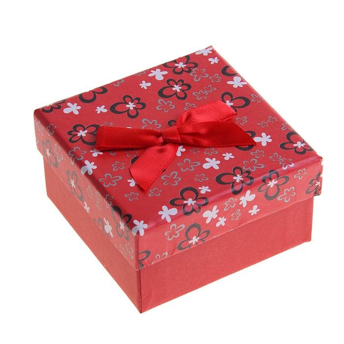 """Коробка подарочная """"Многоцветие"""", цвет красный"""