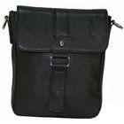 Сумка мужская, 19х7х24 см, отдел на клапане, наружный карман, плечевой ремень, цвет чёрный