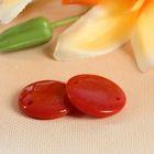 Пуговица декоративная, 2 прокола, d = 19 мм, цвет оранжевый
