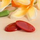 Пуговица декоративная, 2 прокола, 18 × 33 мм, цвет оранжевый