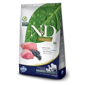 Сухой корм Farmina N&D беззерновой для собак, ягненок/черника, 12 кг