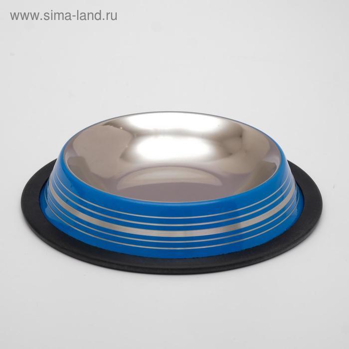 Миска на резинке DOGMAN №0 , 0,3 л, 10 см цветная, МИКС