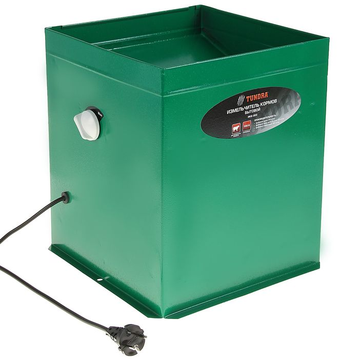 """Измельчитель TUNDRA """"ИКБ-003"""", трава 150 кг/ч, зерно 250 кг/ч, корнеплоды 900 кг/ч, зеленый"""