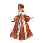 Карнавальный костюм «Императрица», бархат, парча, рост 122 см