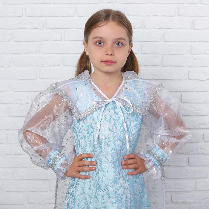 Детский карнавальный костюм «Снежная королева», парча, размер 32, рост 122 см