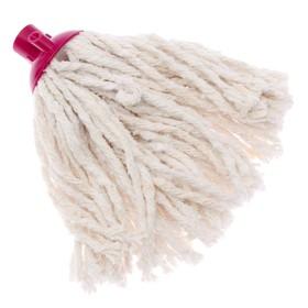 Насадка для швабры верёвочная, х/б, 140 гр, цвет МИКС - фото 1712591