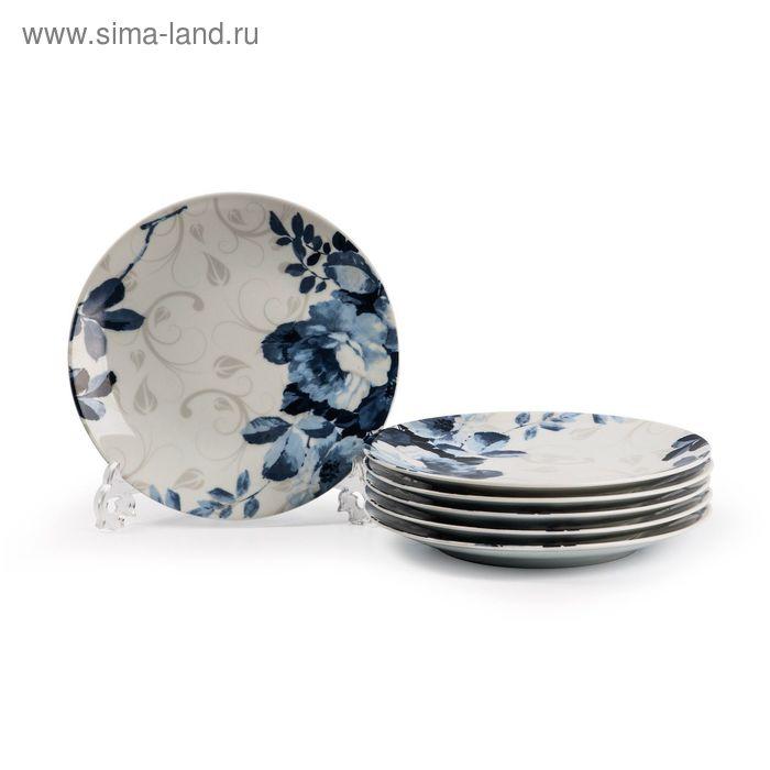 Набор тарелок Jardin Bleu, 27 см, 6 шт.
