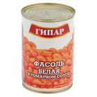 """Фасоль """"Гипар"""" белая в томатном соусе ГОСТ Р банка №46 400г"""