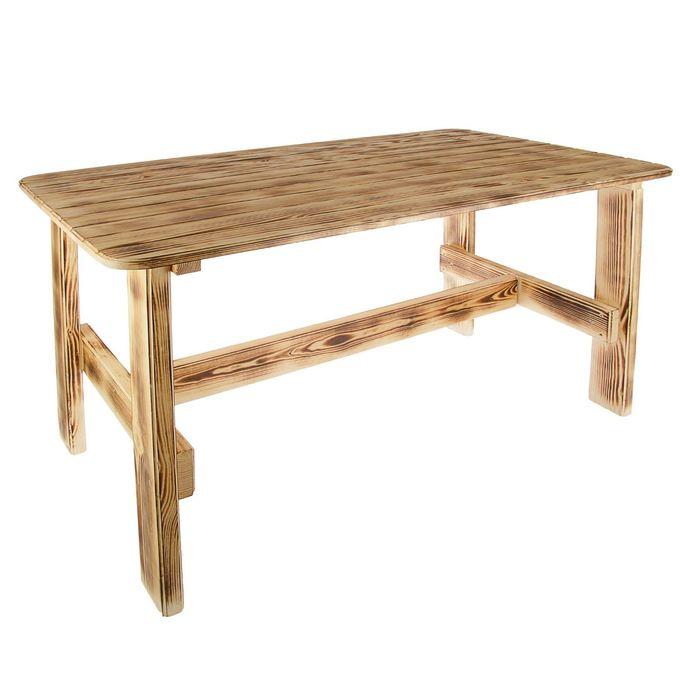 """Стол к набору """"Дачный"""" 160 см, сосна обожженый лакированный"""