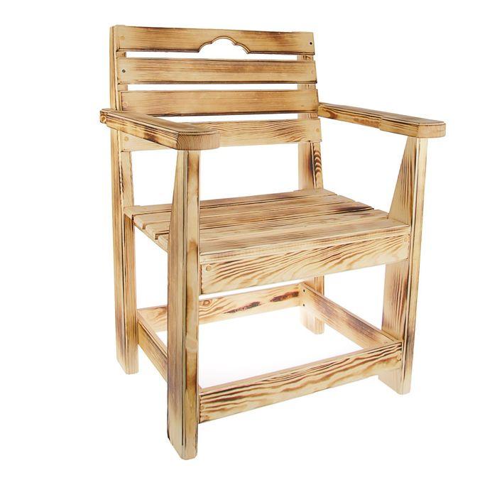 Кресло к набору Дачный  классический(обожжённый , лакированный)