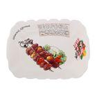 """Блюдо для шашлыка """"Шашлык куриный"""", 35,5х26х6,3 см, цветная упаковка"""