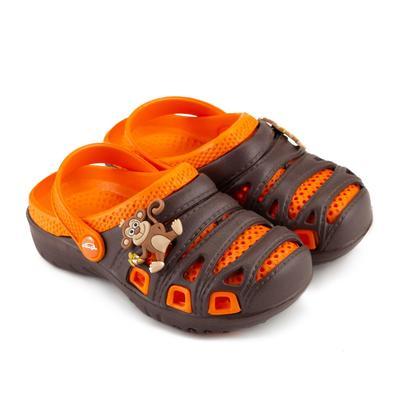 Сланцы пляжные детские арт. BR1631, цвет коричневый/оранж, размер 28
