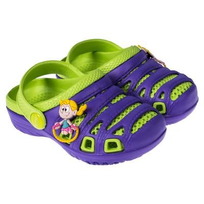Сланцы пляжные детские арт. BR1632, цвет фиолетовый/зелёный, размер 28
