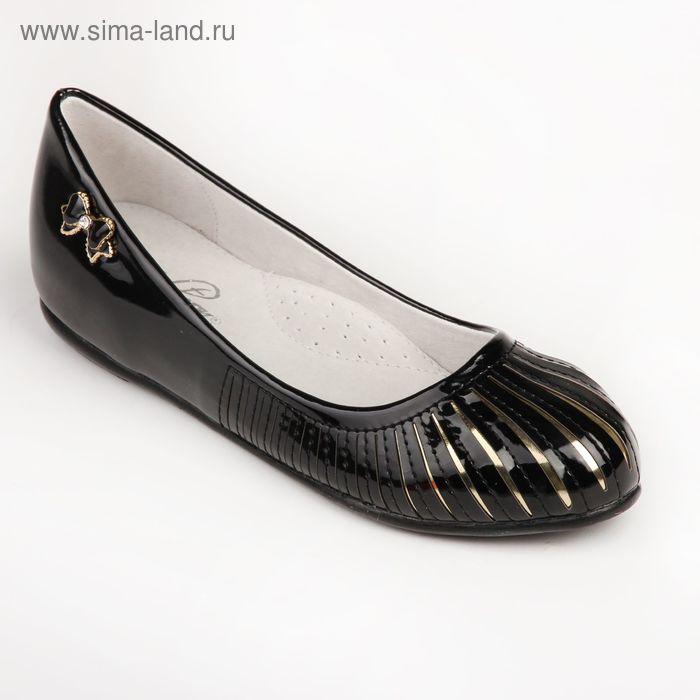 Туфли для школьников девочек SC-21438 (черный) (р. 33)