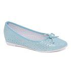 Туфли для школьников девочек SC-21440 (голубой) (р. 35)