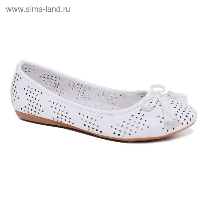 Туфли для школьников девочек SC-21441 (белый) (р. 35)