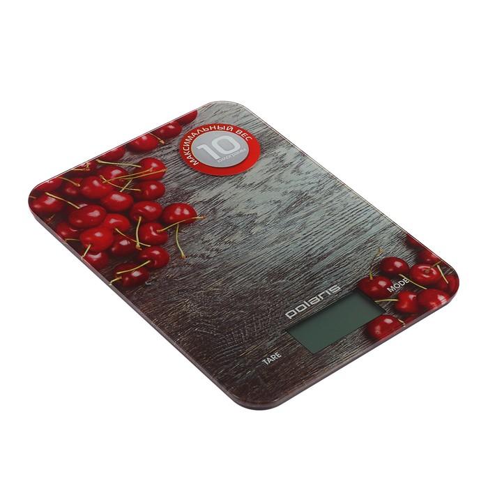 Весы кухонные Polaris PKS 1046 DG, электронные, до 10 кг, стеклянная платформа