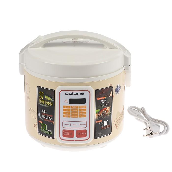 Мультиварка Polaris PMC 0507 D Kitchen, 750 Вт, 5 л, мультиповар, отложенный старт