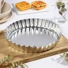 Форма для выпечки со съемным дном, высота 4,5 см, верхний диаметр 28 см