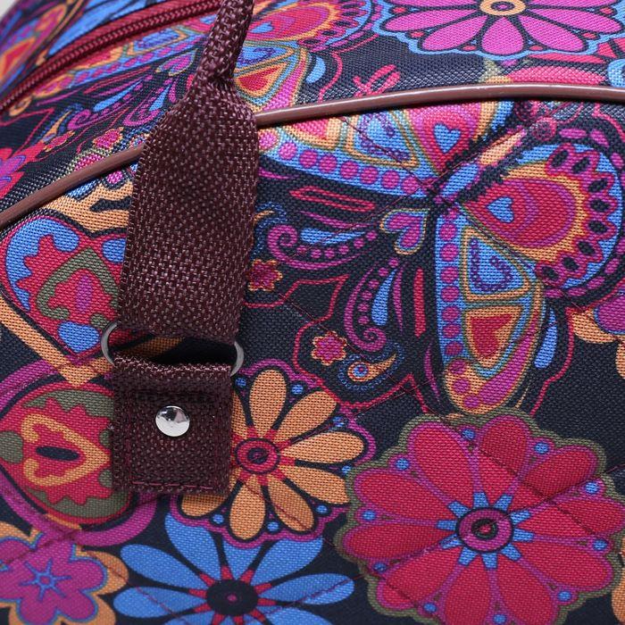 Саквояж ССД-05, 38*12*28, отд на молнии, н/карман, цветы и бабочки